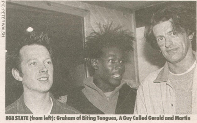 Gerald Simpson (centre) in his 808 State days.