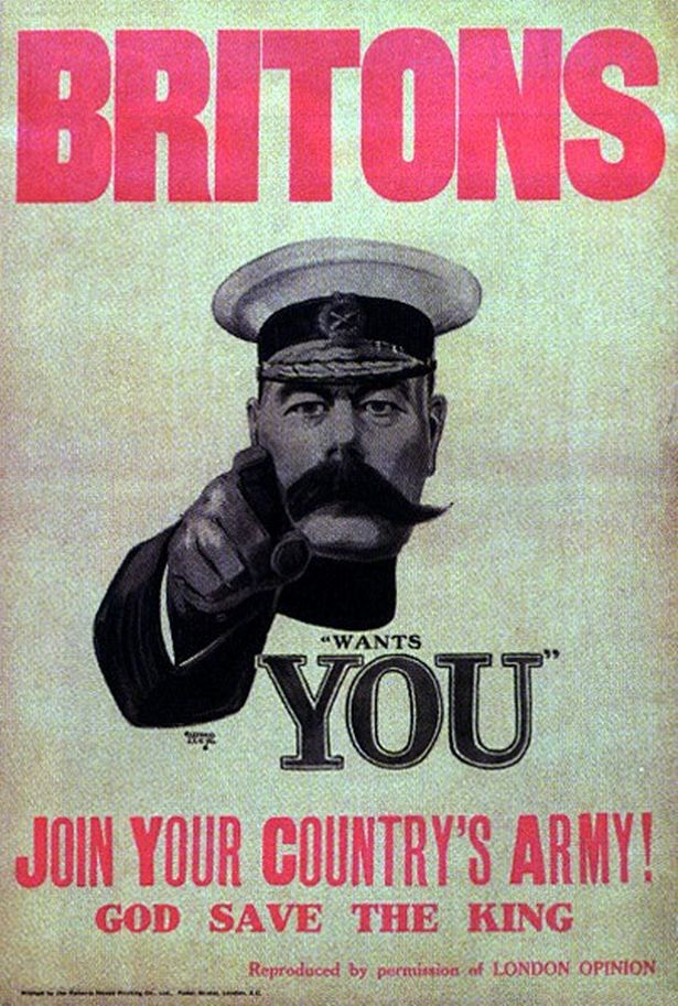 The famous First World War poster, making a different recruitment call. History repeats itself.