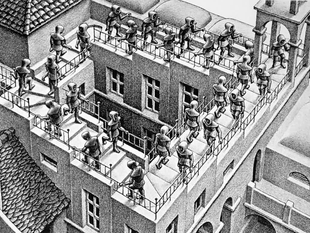 Here we go again. Escher's Ascending and Descending