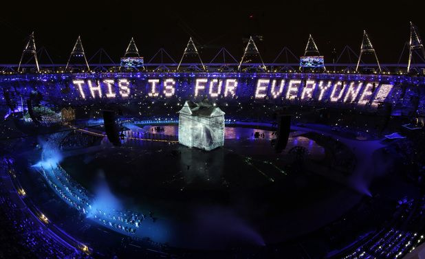 London Olympic Stadium, 2012. An internet message, but does it also help define music-making culture this century?