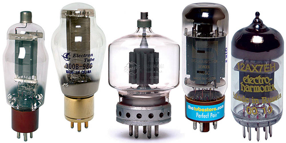 Vacuum tubes - used in music since the 1920s.