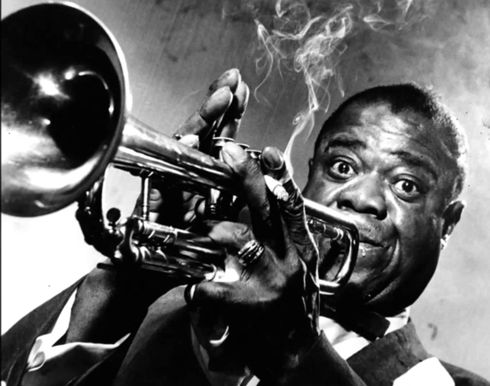 Louis Armstrong liked a good blow now and then