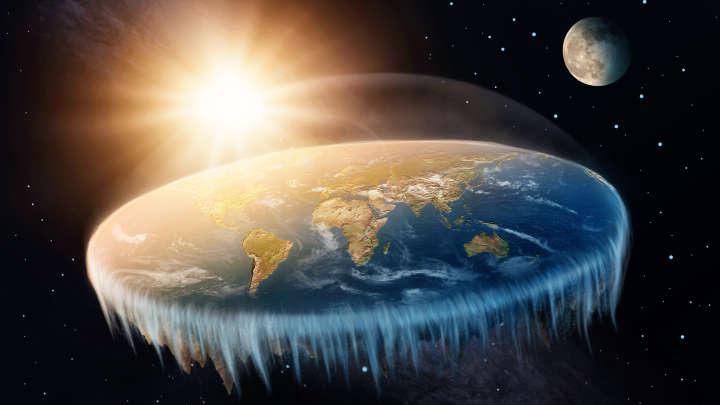 Flat Earth. But why no flat moon, or flat Mars?
