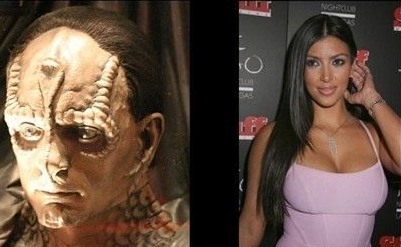 Kardashian or Cardassian? One is a cold-blooded, ambitious,bulbously money-grabbing, prosthetically greedy and aggressive bunch, the others are in Star Trek.