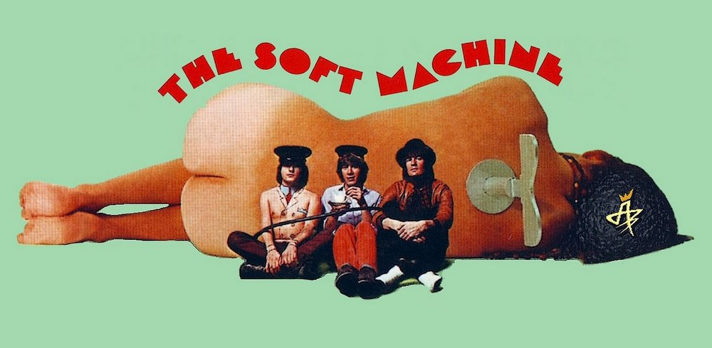 From the album cover of The Soft Machine (1968), featuring Robert Wyatt, Kevin Ayers and Mike Ratledge