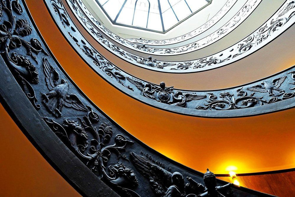 Momo Staircase at Vatican Museums