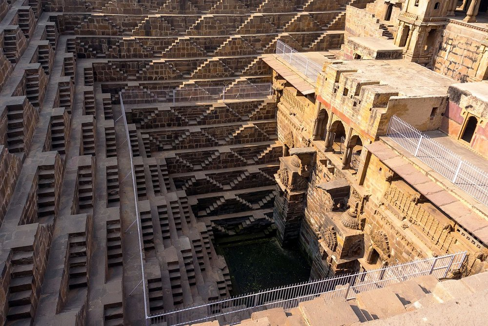 Going up. Going down. Chand Baori