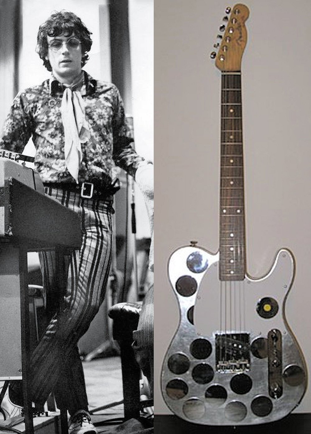 Syd Barrett and his favourite silver Fender