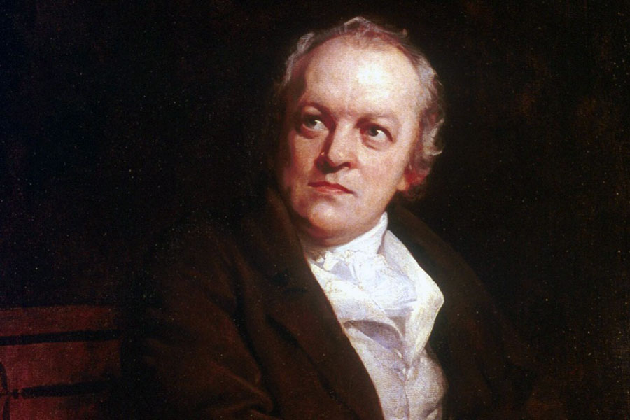 William Blake. No briars could bind his joys and desires.