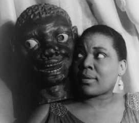 Bessie Smith, carrying more than weight on her famous shoulders