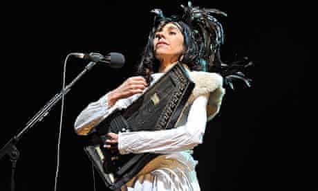 PJ Harvey on autoharp (not a harp, but a zither)