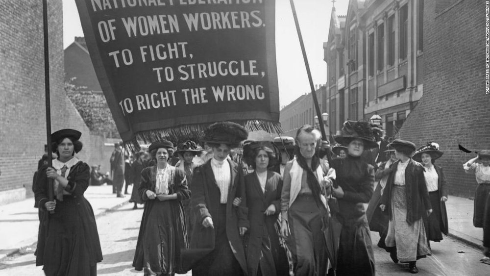 Suffragettes in London, 1911