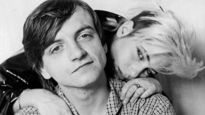 Mark E Smith and ex-wife and guitarist Brix in 1988