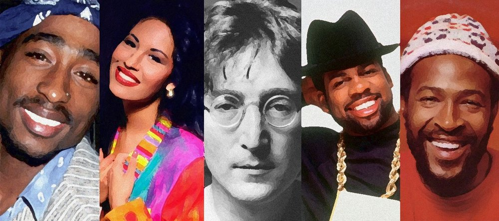 Some famous musicians killed by guns