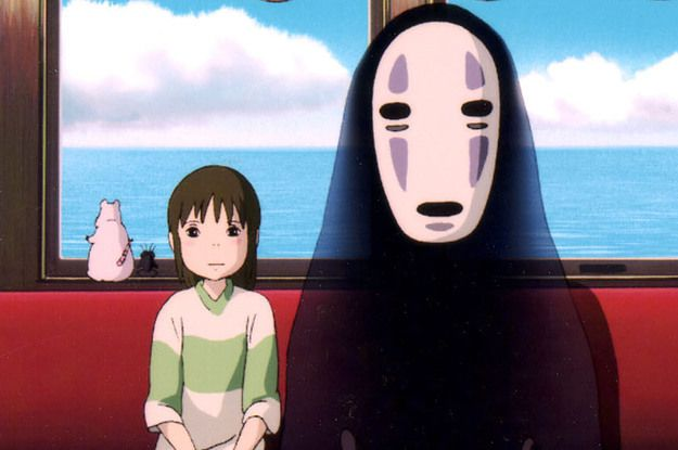 A scene from Hayao Miyazaki's Spirited Away, with music by Joe Hisaishi
