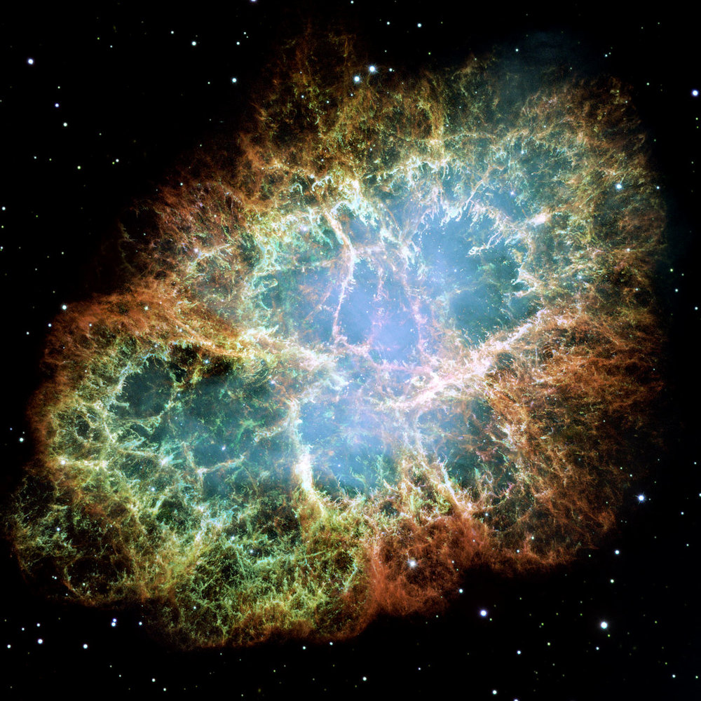 The Crab Nebula, a supernova remnant of the constellation of Taurus