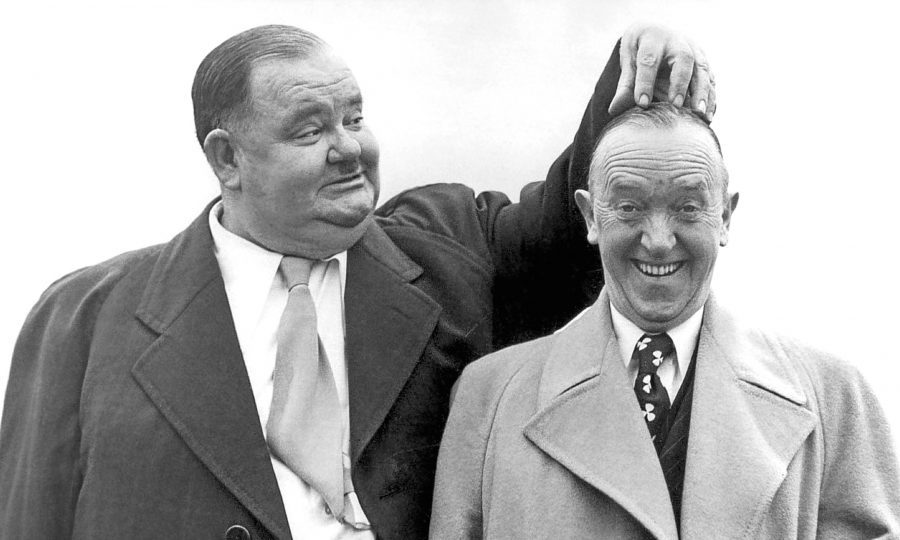Oliver Hardy and Stan Laurel. The origin platonic comedy pair.