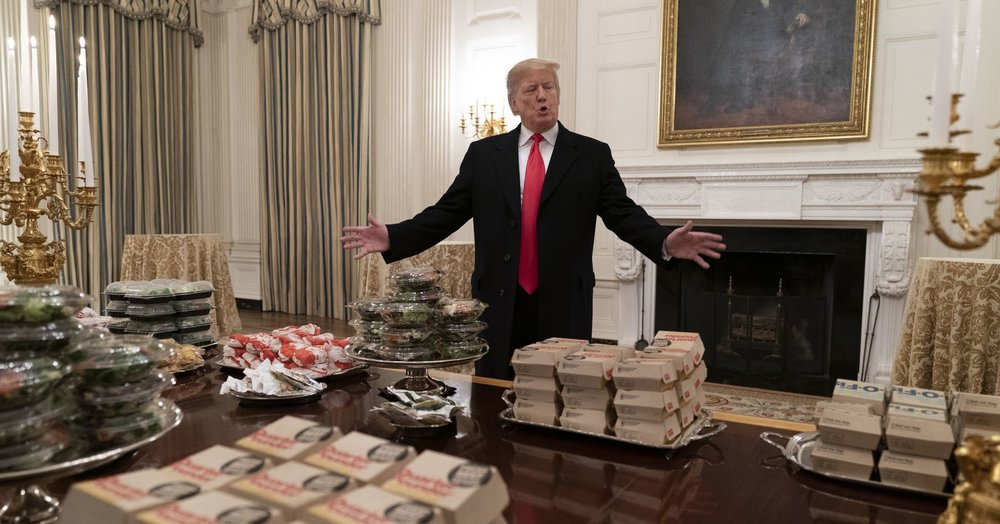 No government, a national crisis, but it's OK folks, Donald has in the Big Macs and fries …