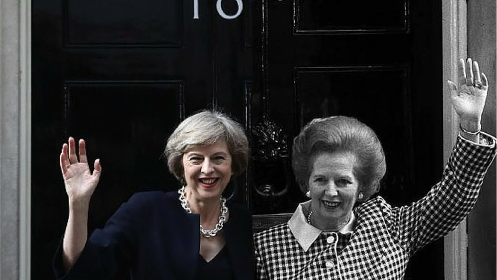 May and Thatcher: two more recent harridans, though their gender has nothing to do with policy or nature