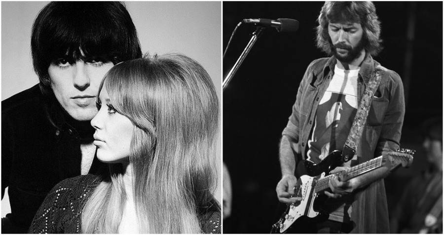 George and Pattie Harrison, and a jealous Eric Clapton