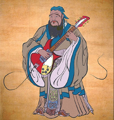 Confucius, teacher, philosopher, editor leader, and guitar hero