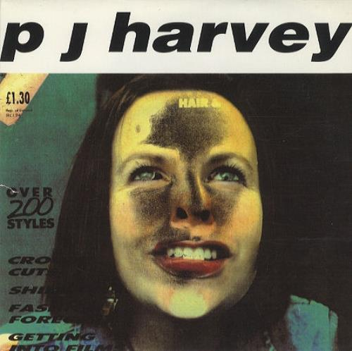Single cover for PJ Harvey's Sheela-Na-GIg (1992)