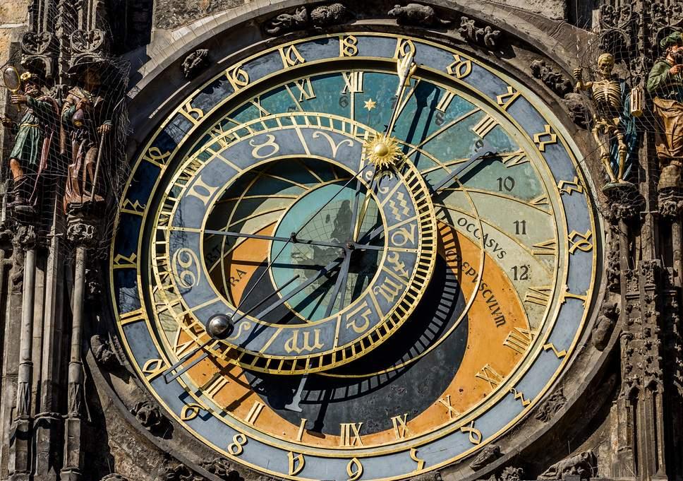 Gregorian Calendar clock in Prague