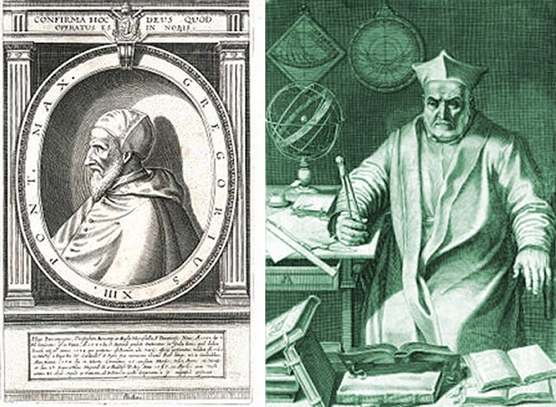And him … Pope Gregory XIII finds the time.