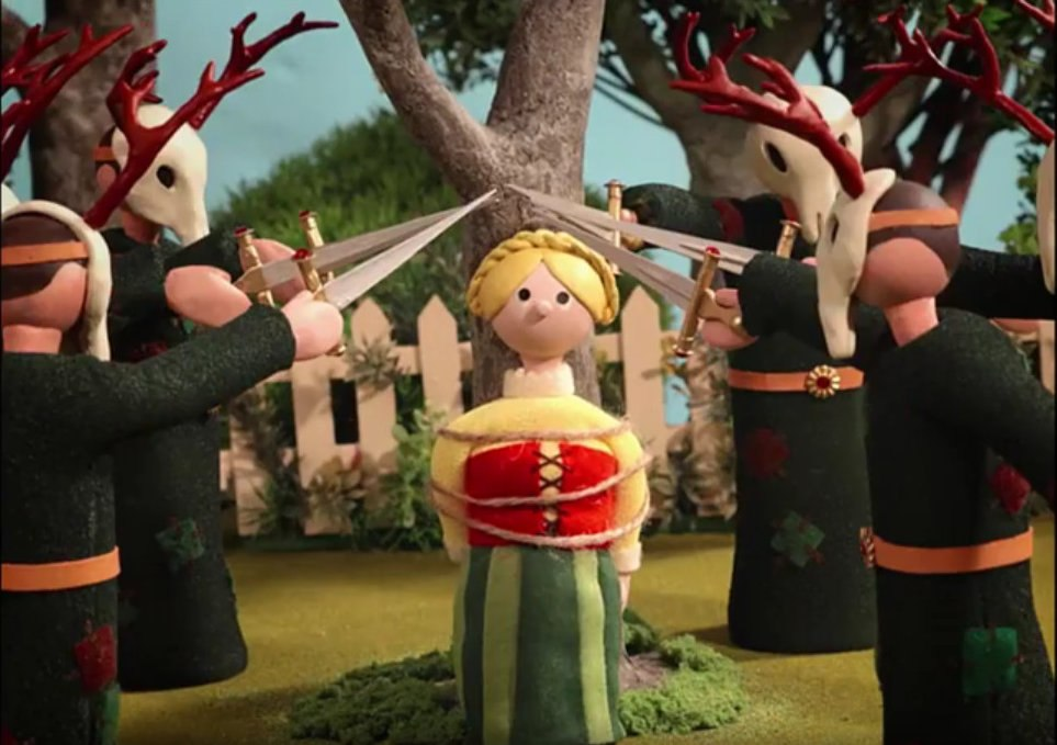 Trouble in Trumpton? From a Radiohead video …