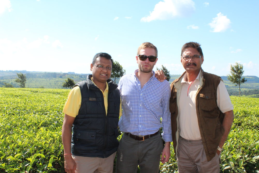 Finn Merrill and the management team at Makandi - Akhil and Satinder.