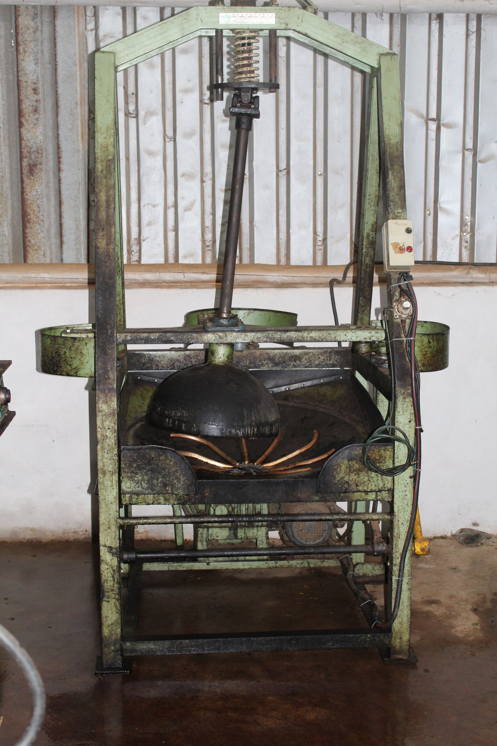 Some orthodox rollers. These machines make larger tea leaf grades and specialty teas.