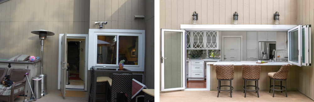 Kitchen Exterior Before & After
