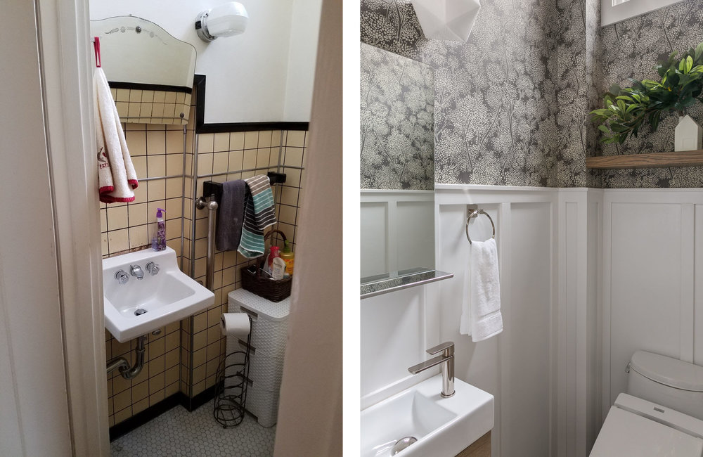 Water Closet Before & After