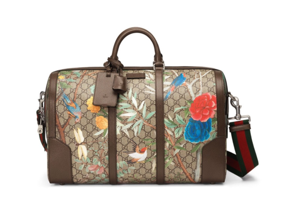 Gucci Large Tian-Print Supreme Canvas Duffle Bag - $1,850