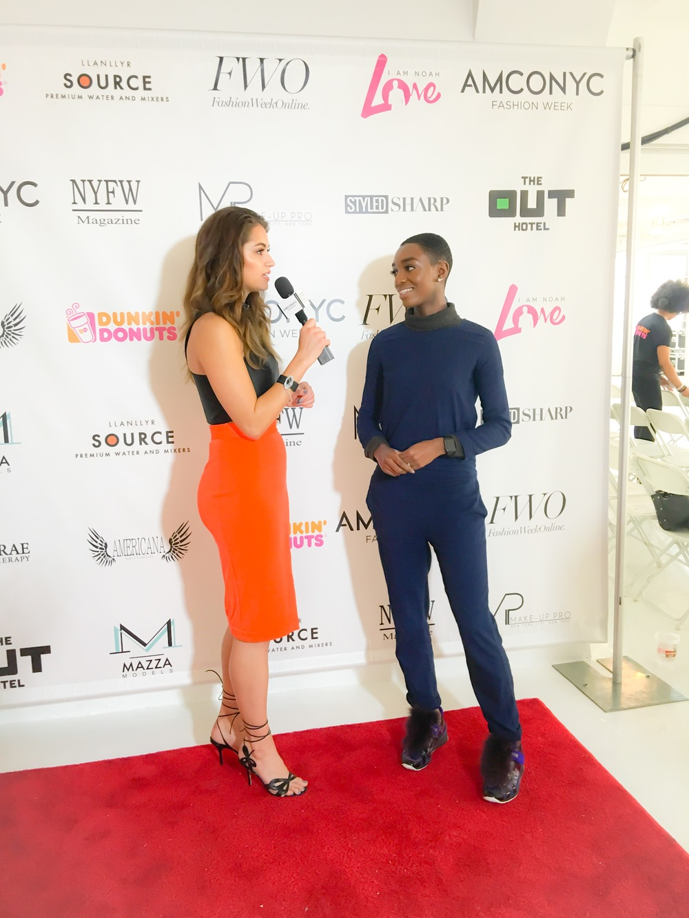 Influencer Post Show Interviews: NKC speaking with Hannah Tucker for Fashion Week Online.