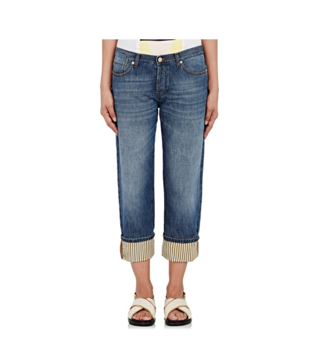 The Subtle Style  Marni Cuffed Linen Lined Boyfriend Jeans - $540 (barneys.com)