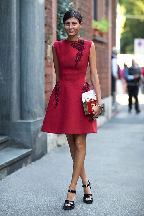 Full body skirts and dresses are a great way to accentuate your waist, while still staying office appropriate.