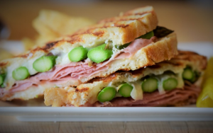 Ham, Swiss & Asparagus Panini