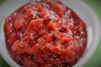 Cherry-Rhubarb Chutney