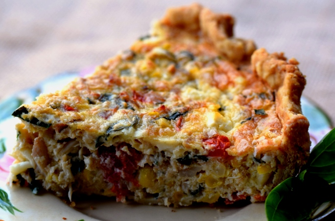 Crab & Corn Quiche