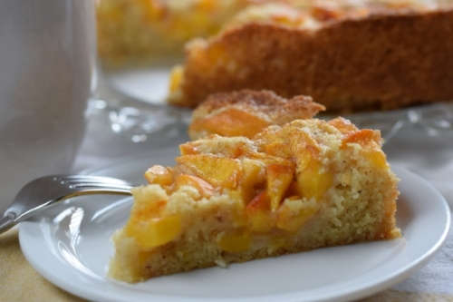 Summer Peach & Almond Cake