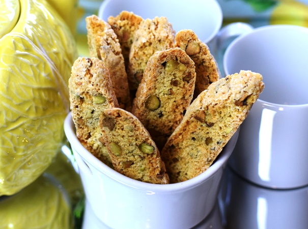 Lemon-Pistachio Biscotti