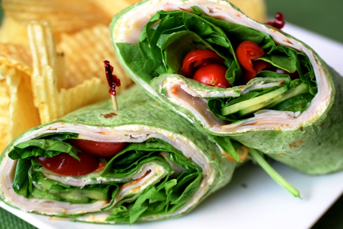 Feast's Chicken Roll-Up made with deli roasted chicken