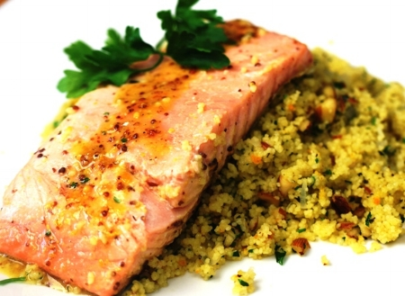Mustard, Maple & Orange Marinated Salmon