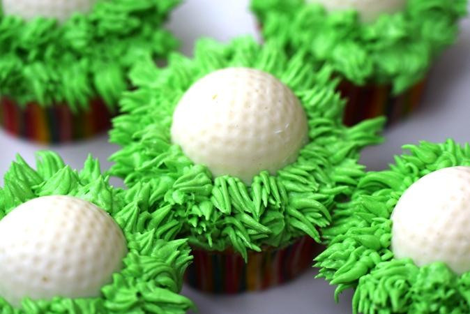 Cupcakes golf balls grass.JPG