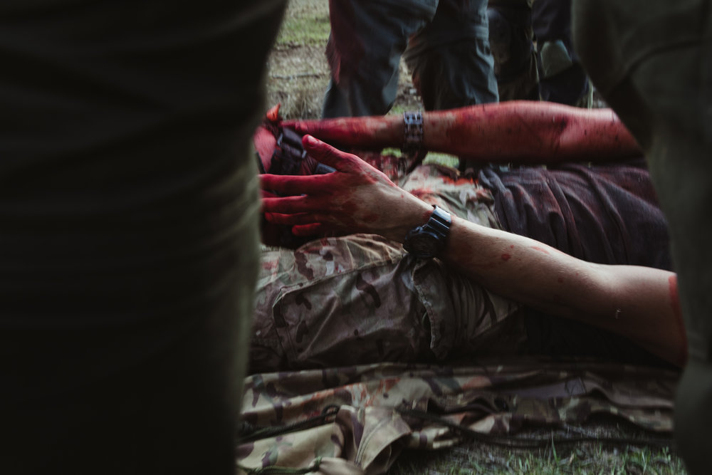 a soldier is wounded after an ied