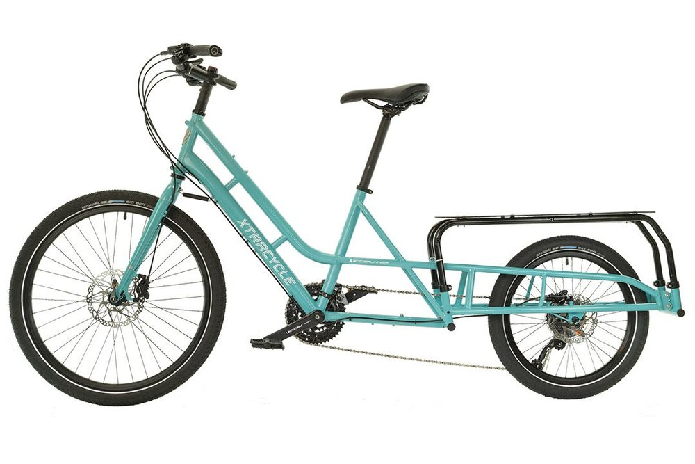 The Xtracycle EdgeRunner Swoop -  A deep step through design that remains rigid and responsive to ride.