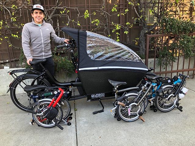 Spencer, with #Urban Arrow and #Bromptons