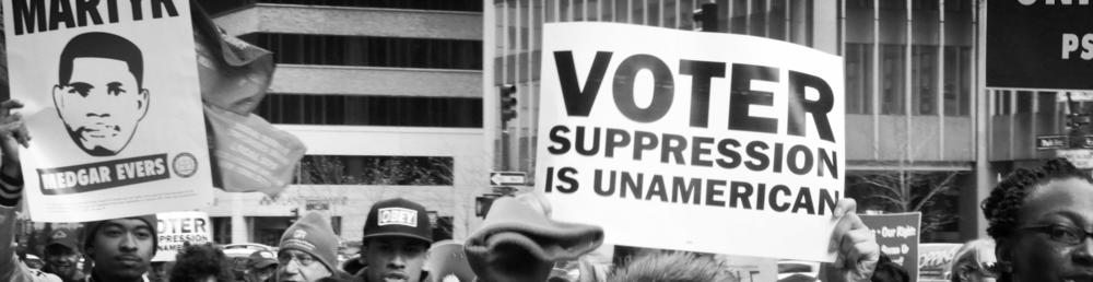 """ December 10 march for voting rights "" by  Michael Fleshman  is licensed under  CC BY-SA 2.0"