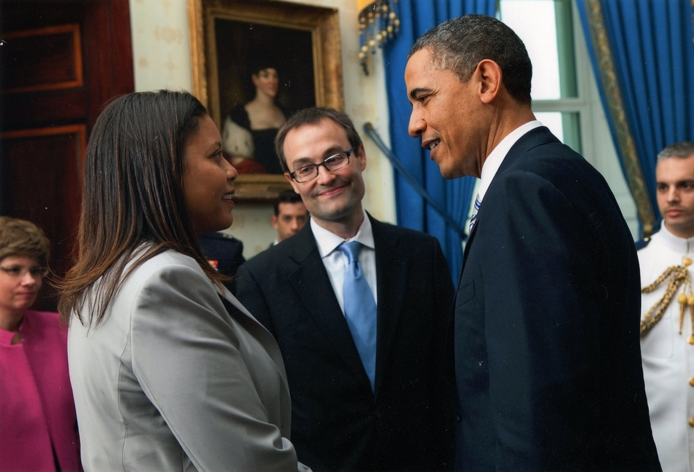 Bryan and Deneta Sells with President Obama at the White House in 2011.